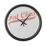 FAT CHICK Large Wall Clock