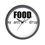 FOOD MY ANTI-DRUG Wall Clock