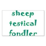 Sheep Testical Fondler Sticker (Rectangle 50 pk)