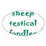 Sheep Testical Fondler Sticker (Oval)