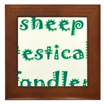 Sheep Testical Fondler Framed Tile