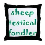 Sheep Testical Fondler Throw Pillow