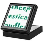 Sheep Testical Fondler Keepsake Box