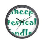 Sheep Testical Fondler Wall Clock
