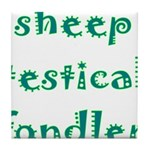 Sheep Testical Fondler Tile Coaster