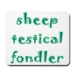 Sheep Testical Fondler Mousepad