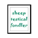 Sheep Testical Fondler Framed Panel Print