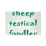 Sheep Testical Fondler Rectangle Magnet