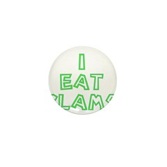 I Eat Clams Mini Button (10 pack)