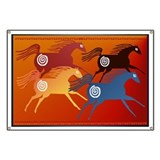 Four Ancient Horses Banner
