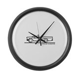 1957 T Bird Convertible Large Wall Clock