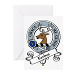 Forbes Clan Badge Greeting Cards (Pk of 10)