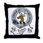 Forbes Clan Badge Throw Pillow