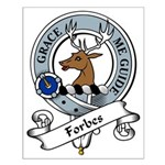 Forbes Clan Badge Small Poster