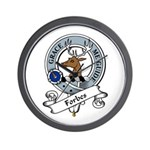 Forbes Clan Badge Wall Clock