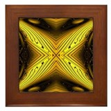 Yellow Evening Star Framed Tile