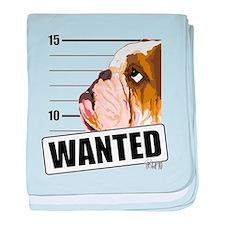 Bulldog Wanted baby blanket