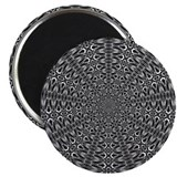 "Slaserwood Black Optical Art 2.25"" Magnet (10 pack"