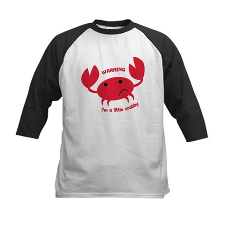 I'm A Little Crabby Kids Baseball Jersey