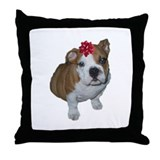 Bulldog Christmas Throw Pillow