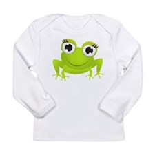 Girlie Girl Frog Frogette Long Sleeve Infant T-Shi