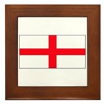 England English St. George Bl Framed Tile