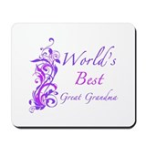 World's Best Great Grandma (Floral) Mousepad