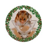 Cheers! Holiday Hamster Ornament