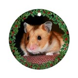 Holiday Hamster Ornament (Round)