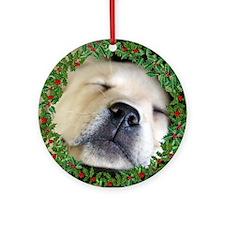 Sleeping Puppy Ornament (Round)