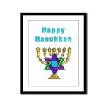 Happy Hanukkah Framed Panel Print