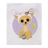 Easter Chihuahua Throw Blanket