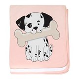 Dalmatian with Bone baby blanket