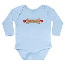 Pets Bowls Long Sleeve Infant Bodysuit