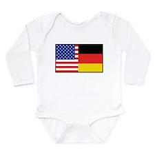 USA/Germany Long Sleeve Infant Bodysuit