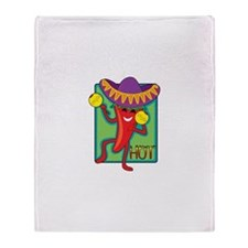 Mexican Chili Throw Blanket