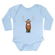 Animal Alphabet Yak Long Sleeve Infant Bodysuit