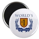 "World's Number 1 Step Father 2.25"" Magnet (100 pac"