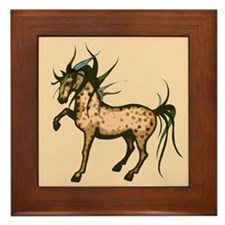 Wild and Free Horse Framed Tile