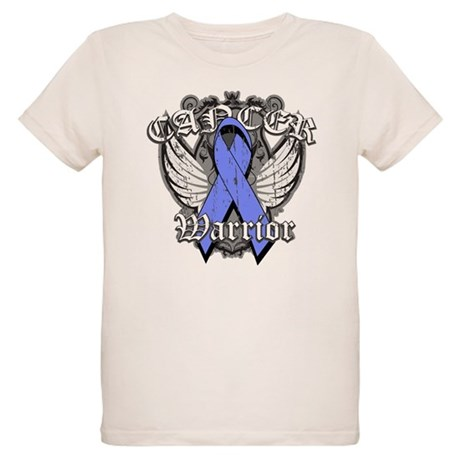 Esophageal Cancer Warrior Organic Kids T-Shirt