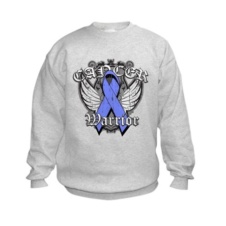 Esophageal Cancer Warrior Kids Sweatshirt
