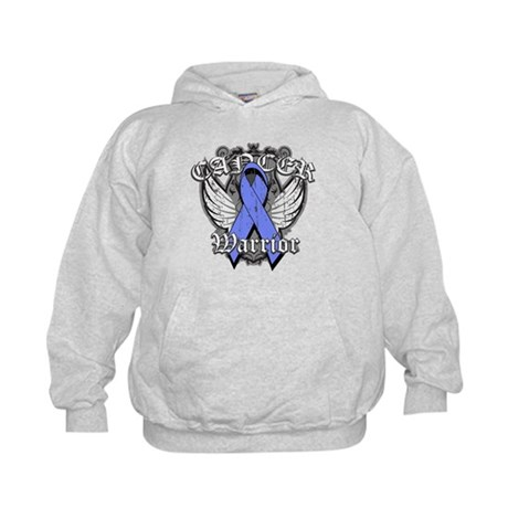 Esophageal Cancer Warrior Kids Hoodie