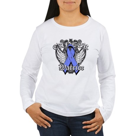 Esophageal Cancer Warrior Women's Long Sleeve T-Sh