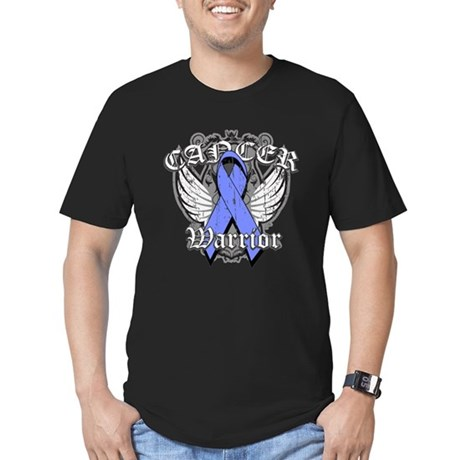 Esophageal Cancer Warrior Men's Fitted T-Shirt (da