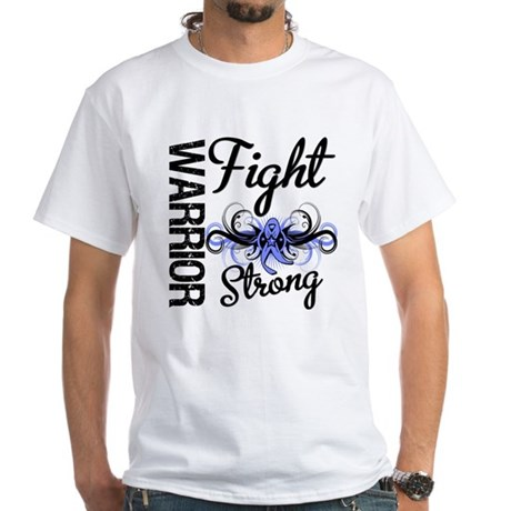 Warrior Esophageal Cancer White T-Shirt