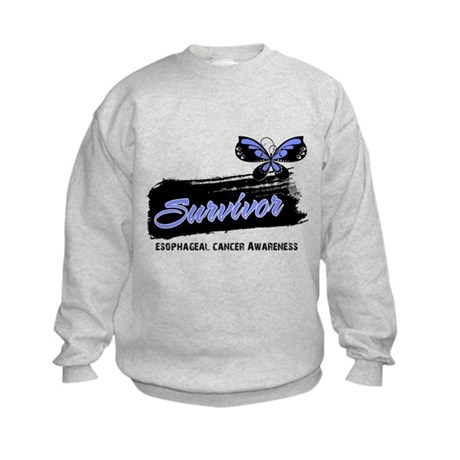 Survivor Esophageal Cancer Kids Sweatshirt