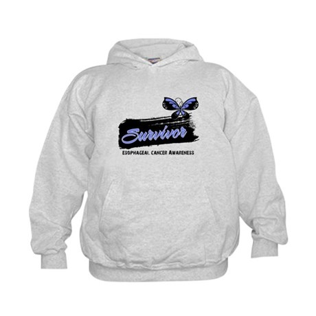 Survivor Esophageal Cancer Kids Hoodie