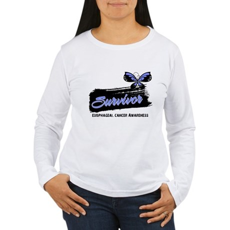 Survivor Esophageal Cancer Women's Long Sleeve T-S