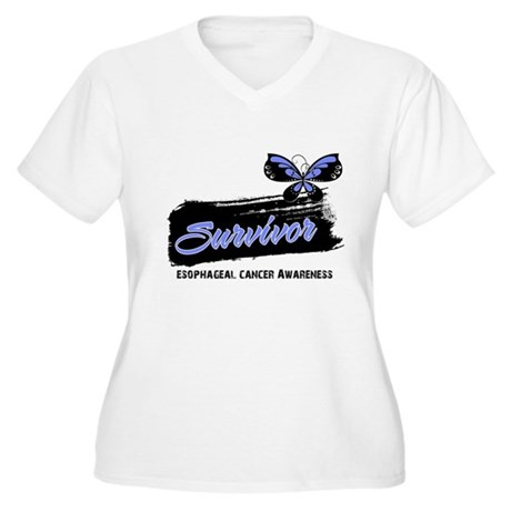 Survivor Esophageal Cancer Women's Plus Size V-Nec
