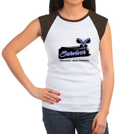 Survivor Esophageal Cancer Women's Cap Sleeve T-Sh